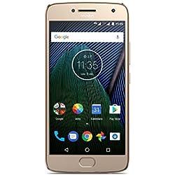 Moto G 5ª Generación Plus - Smartphone libre Android 7 (pantalla de 5.2'' Full HD, 4 G, cámara de 12 MP Dual Pixel, 3 GB de RAM, 32 GB, Qualcomm Snapdragon 2.0 GHz), color dorado - [Exclusivo Amazon]