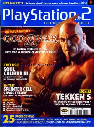 PLAY STATION 2 [No 96] du 01/04/2005 - GOD OF WAR -...