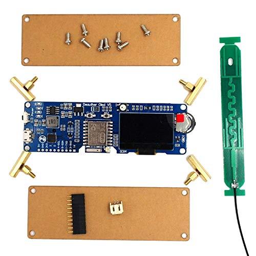 Adanse WiFi Deauther OLED V5 Esp8266 Entwicklungsboard 18650 Batteriepolarit?Tsschutz Fall ntenne 4Mb