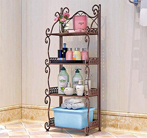 ZXMXY Mehrschichtregale für Bücherregale Schlafzimmer Badezimmer Badezimmer Küche im Flur Abstellborde (weiß, schwarz, bronze) (Farbe : Bronze, Design : 4Floor) (Bücherregal Bronze)