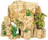 Nobby 28414 Aquarium Dekoration Aqua Ornaments, Fels mit Pflanzen, L 35.2 x B 18 x H 29.5 cm