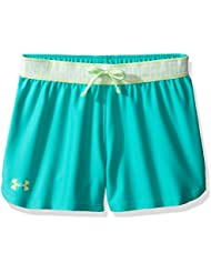 Under Armour Play Up Short Pantalones Cortos Deportivos, Niñas, Verde (Absinthe Green), YSM