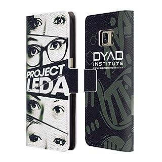 Head Case Designs Offizielle Orphan Black Augen Projekt Leda Brieftasche Handyhülle aus Leder für Samsung Galaxy S7