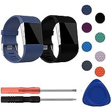 Bracelet de Fitbit Surge, mtsugar plus récent multicolore accessoires de remplacement bracelet avec Bukle réglable pour Fitbit Surge (pour Fitbit surtension seulement, pas de Tracker)