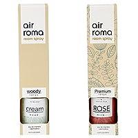 AirRoma Combo of Rose Milk Fragrance Air Freshener Spray 200 ml & Cream Wood Fragrance Air Freshener Spray 200 ml