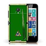 Custodia/Cover Rigide/Prottetiva STUFF4 stampata con il disegno Giochi per Nokia Lumia 638 - Piscina/biliardo verde