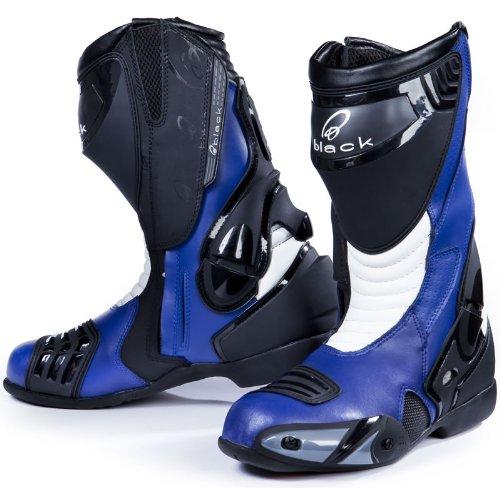 Black Venom - Motorrad-Stiefel - Racing/Sport - Blau - EU43 (UK9) Blau Motorrad-stiefel