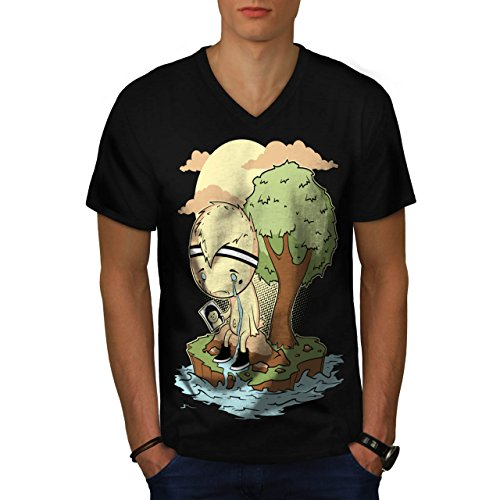 schrei-mich-ein-fluss-unterbrechung-teilt-herren-neu-schwarz-l-t-shirt-wellcoda