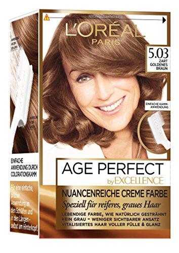 L\'Oréal Paris Excellence Age Perfect goldenes hellbraun, 3er Pack (3 x 1 Stück)