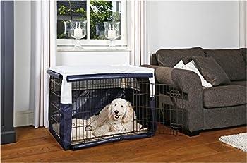 Couverture Bleu pour Chien Box Cage Cage de transport cage Box Grille Box pour chien pliable cage de transport chien 63x 55x 61cm