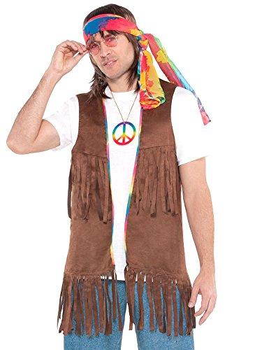 Lange Hippieweste - Kostüm für Erwachsene