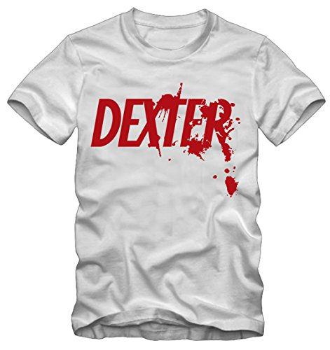 Bisura t-shirt dexter morgan (m donna, bianco)