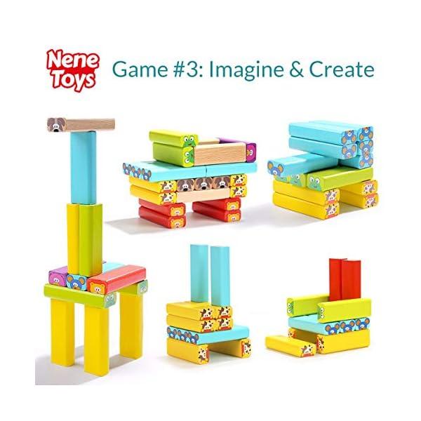 Nene Toys - Torre Magica Colorata in Legno con Animali – Gioco Educativo da Tavolo per Bambini - Gioco Didattico 4 in 1… 5 spesavip