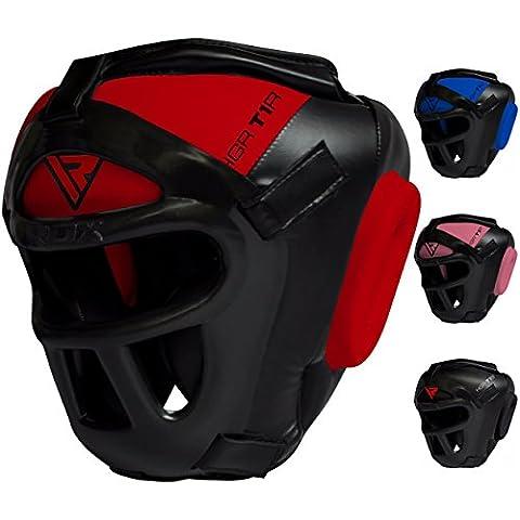 RDX MMA Tête Boîtes de protection Grille lutte Sport boxtr Cardio Kick Boxing UFC Sparring Headgear XL rot