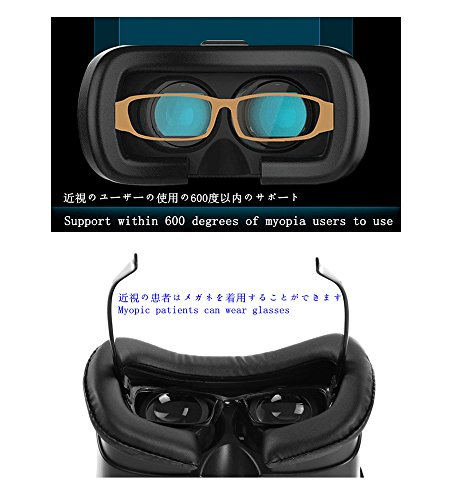 YOUmeSKY VR Headset Virtual Reality Box 3D VR Box Neueste Upgrade II Brillen Virtual Reality Mobile 3D Filme für iPhone und andere 4.7