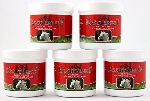 Pferdebalsam Kräuterhof je 250ml (EUR 16,99/Liter) Creme wärmend Wärmegel extra stark Salbe (4 Stück)