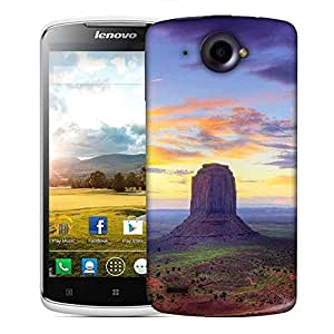 Snoogg Mountains At Evening Designer Protective Phone Back Case Cover For Lenovo S920