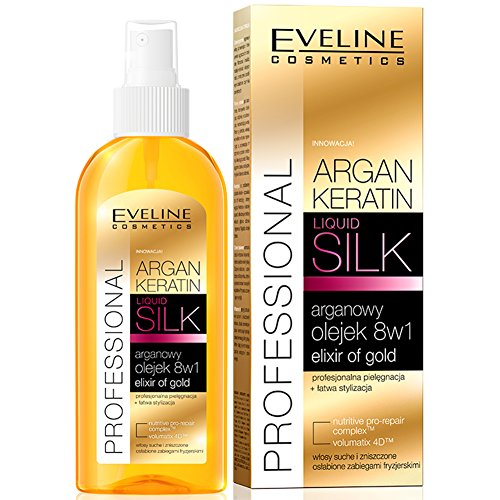 Eveline Cosmetics Argan Keratin Haaröl ARGANÖL LIQUID SILK 8in1 150ml (Loreal Anti-schuppen-behandlung)