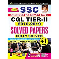 Kiran SSC CGL Tier-II 2010-2019 Solved Papers Fully Solved Quantitative Abilities and English Language and Comprehension (2797)