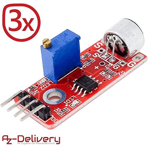 AZDelivery ⭐⭐⭐⭐⭐ 3 x Hochempfindliches Mikrofon Mikrophon KY-037 für Arduino