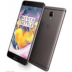 "OnePlus 3T A3003 - Smartphone de 5.5"" (Qualcomm Snapdragon 821 64 bit Kryo Quad Core 2x2.35GHz + 2x1.6GHz CPU, 6 GB de RAM, Memoria Interna de 128 GB, Android 6.0), Color Gris (Gunmetal)"