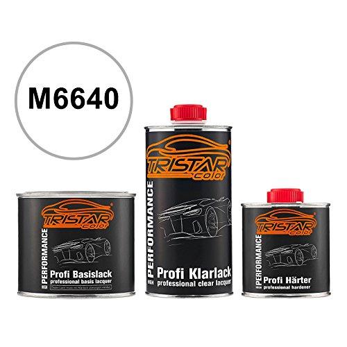 TRISTARcolor Autolack Set Dose spritzfertig für Ford/Lincoln/Mercury M6640 Performance White Basislack + 2K Klarlack 1,25L