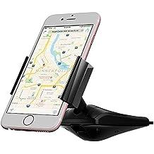 iVoler Soporte Móvil Coche One Touch Instalación para Ranura de CD de Coche, Universal con 360°Rotación Montaje para Smartphone iPhone 7 6s Plus 5S 5C SE 4S, Samsung S7 Edge, Sony, Huawei P9 Lite, Xiaomi, GPS, MP3 Player y más Ancho de 55-90 mm