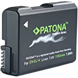 Für Nikon D3100 D3200 D3300 D5100 D5200 D5300 und Coolpix P7800 P7700 (inkl. Update 1.3) Bundlestar * PATONA PREMIUM Qualitätsakku für Nikon EN-EL14 EN-EL14a - Intelligentes Akkusystem - (echte 1050mAh)
