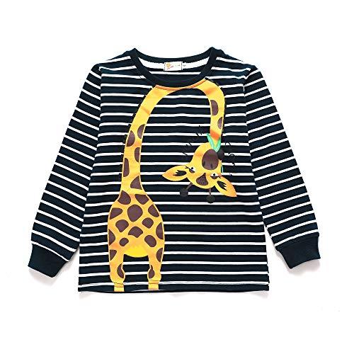 Tarkis Kinder T-Shirt Baumwolle Streifen Feuer Cartoon Auto Muster Jungen Mädchen Kurzarm Oberteil Pullover Größe 104