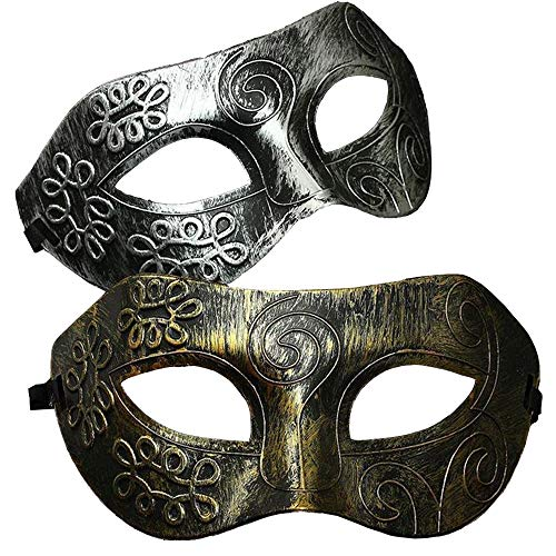 Kostüm Maskenball Und Masken - Ouinne 2 Stücke Maskerade Maske, Venezianische Fasching Verkleidung Masquerade Kostüm Ball Halloween für Herren und Damen