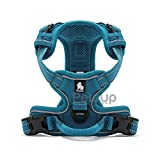 #4: Petsup Dog Vest Harness With 3M Reflective Front Range No Pull Harness With Handle (Large, Blue)