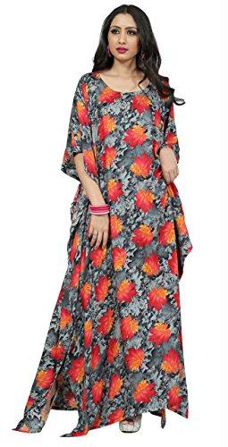 Justkartit New York Style Floral Printed Kaftans 2017 / Ladies Honeymoon Wear Kaftans Dresses 2017