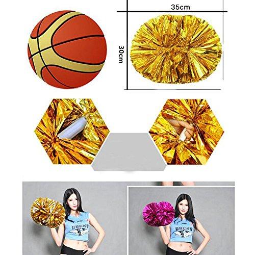 2ST Team Sports Cheerleading Poms Spiel Pom Tanz (Supplies Gymnastik Party)