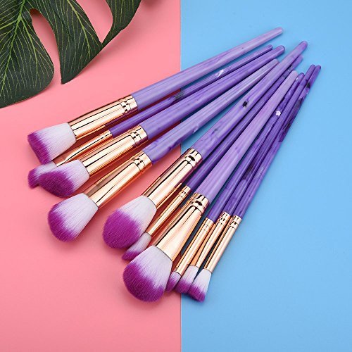 Daysing 10 Stück Make-up Pinsel-Sets Schminkpinsel Kosmetikpinsel Rougepinsel Augenbrauenpinsel Puderpinsel Lidschattenpinsel