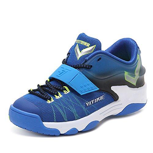 ASHION Sportschuhe der Kinder Jungen Frühling Gitter Breath Student Basketball-Schuhe Big Jungfrau Boy Laufschuhe (36 EU, Blau) Kd 4 Kinder
