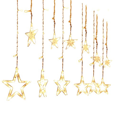 2.5M Stile di stelle scintillanti Tenda Luminosa di Natale 138 LED Luce per Interno ed esterno Natale Xmas stringa fata nozze tenda di luce 220V