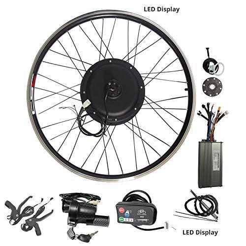 WENHU Kit de conversión 20-29 Pulgadas 700C Bicicleta eléctrica Kit de conversión 48V 1000W 1500W 36V 250W 500W Rueda Delantera del Motor del Eje Trasero,36V250WLED880