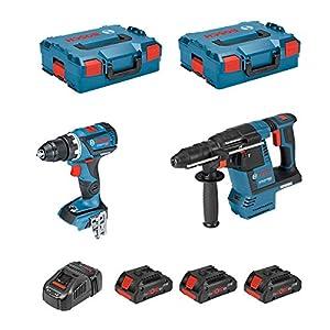 BOSCH Kit GSR 18V-60C + GBH 18V-26F (3 x 4,0 Ah PROCORE + GAL1880CV + 2 x L-Boxx 136)