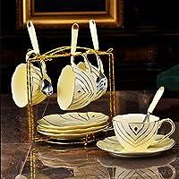 QMPZG-tazas de café tazas de café Lujoso Palacio Porcelana De Marfil, English Afternoon