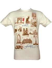 Souvenirs de France - T-Shirt Homme Monuments de Paris - Couleur : Blanc
