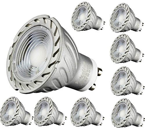 10er Packung I-Lumen® LED GU10 warmweiß 265 Lumen Spots Strahler 230V Silver Watt Ersatz #1172 (Ersatz 230v)