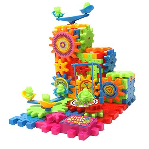 Fenteer 81pcs 3D Elektrischen Zahnrad Bausteine Pädagogisches Spielzeug Gehirn Spiel Für Kinder (Gehirn Spiele Kinder)