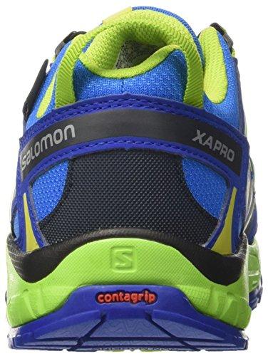 Salomon XA Pro 3D CSWP J, Scarpe Outdoor Multisport Unisex-Bambini Blu (Union Blue/Blue Yonder/Granny Green)