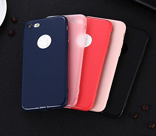 Für Apple IPhone 7 weichen rückseitigen Abdeckungs-Fall, Shockproof Anti-Kratzer Matt Matt TPU Gel-schützende Stoßdämpfer-Normallack-Abdeckung ( Color : Red ) Pink