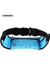 Hannea CHAOKUPAI Water Resistant Zipper Reflective Strips Headphone Jack Sports Waist Bag