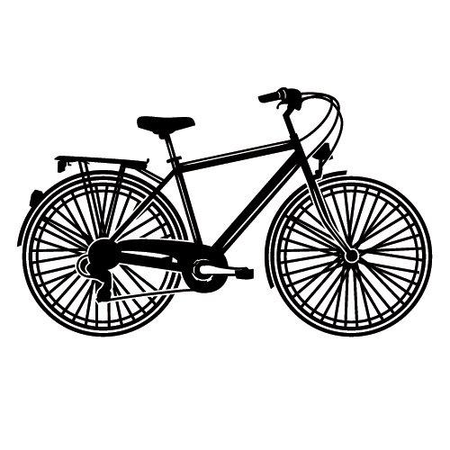 Wadeco Fahrrad seitlich Wandtattoo Wandsticker Wandaufkleber 35 Farben verschiedene Größen, 98cm x 59cm, mint