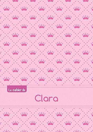 Le cahier de Clara - Blanc, 96p, A5 - Princesse