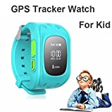 WayonaWayona Kids Tracker Smart Wrist Watch with GPS & GSM System with functions ( Children Safe Security/ SOS Surveillance/Pedometer / Remote Power Off/Alarms Anti-lost for Children) – Blue