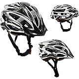 AWE® AeroStealthTM 24 Vents carbonio Fibra doppio In-Mould per Casco Bici Adulto Uomini 58-61cm
