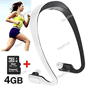 Headphone Sports Running MP3 Music Player + (KINGSTON) Original 4GB Class 4 Micro SD TF Card for MP3 KB-304953